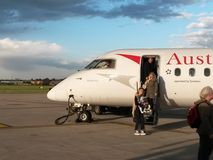 Austrian Airlines aircraft Royalty Free Stock Photography