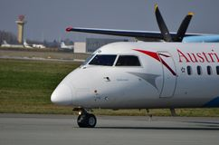 Austrian Airlines aplana fotografia de stock royalty free