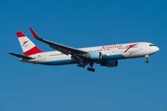 Austrian Airlines Boeing 767 Arkivbilder