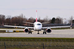 Austrian Airlines Embraer erj-195 Stock Fotografie