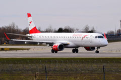 Austrian Airlines Embraer erj-195 Royalty-vrije Stock Foto's