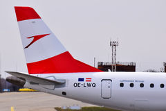 Austrian Airlines Embraer ERJ-195 Royaltyfri Bild