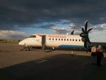 Austrian Airlines flygplan Royaltyfri Foto
