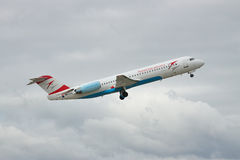 Austrian Airlines Fokker 100 Stock Images