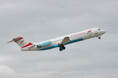 Austrian Airlines Fokker 100 Stock Photography