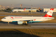 Austrian Airlines-Luchtbus A320 Royalty-vrije Stock Foto