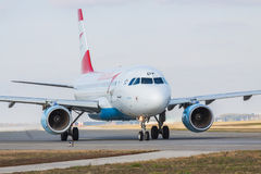 Austrian Airlines-Luchtbus A319-112 Stock Afbeelding