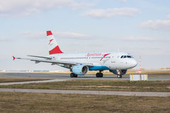 Austrian Airlines-Luchtbus A319-112 Royalty-vrije Stock Afbeelding