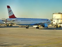 Austrian Airlines plane. Royalty Free Stock Photography