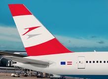 Austrian Airlines plane. Stock Photos