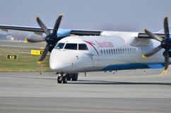 Austrian Airlines plane Stock Photography