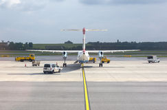 Austrian Airlines  preparing for take-off Royalty Free Stock Photos