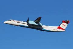 Austrian Airlines (vias aéreas tirolesas) fotografia de stock