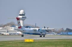 Austrian Airlines-vliegtuig royalty-vrije stock foto's