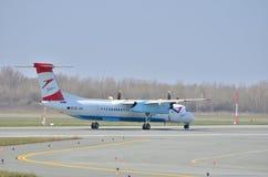 Austrian Airlines-vliegtuig royalty-vrije stock afbeelding