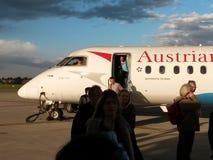 Austrian Airlines-vliegtuigen Stock Fotografie
