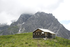 Austrian alpine hut Royalty Free Stock Image