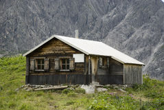 Austrian alpine hut Stock Photography