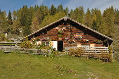 Austrian alpine hut Royalty Free Stock Photo