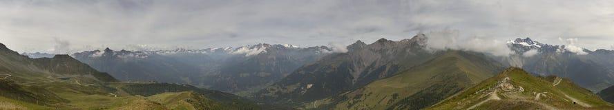 Austrian Alpine Panorama Royalty Free Stock Photography