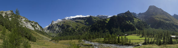 Austrian Alpine Panorama Stock Photo