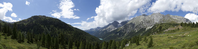 Austrian Alpine Panorama Royalty Free Stock Images