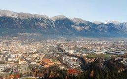 Innsbruck. Austrian Alpine town of Innsbruck Stock Photo
