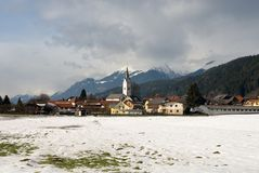 An Austrian Alpine Village Royalty Free Stock Photography