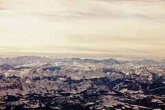 Austrian alps, aerial Royalty Free Stock Photo