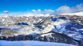 Austrian alps aerial snowy view Royalty Free Stock Images