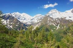 Austrian Alps. Alpine mountain road in Tauern National Park, Austrian Alps Stock Photos