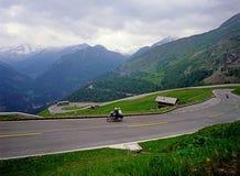Austrian Alps. Alpine Road in Austria with traffic Stock Image
