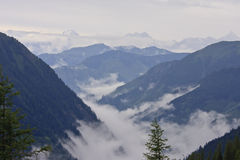 Austrian Alps in Hohe Tauern National Park Stock Photos