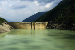 Austrian alps landscape of a dam in Kaprun Royalty Free Stock Photography