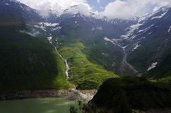 Austrian alps landscape of moutains and lake in Kaprun Stock Photography