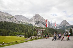 The Austrian Alps near Ehrwald Royalty Free Stock Image