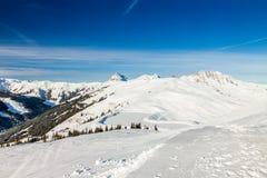 Austrian Alps near Kitzbuehel. In winter Royalty Free Stock Images