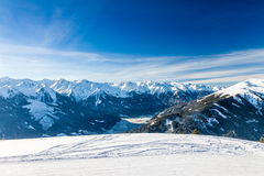 Austrian Alps near Kitzbuehel. In winter Royalty Free Stock Image