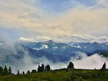 Austrian Alps-outlook on Alps from Zillertaler road Royalty Free Stock Image