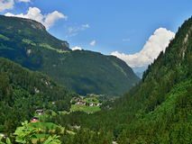 Austrian Alps-outlook to the valley Royalty Free Stock Photos