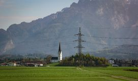 Austrian alps in the spring Stock Image