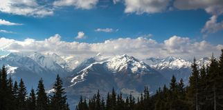 Austrian alps in the spring Royalty Free Stock Photography