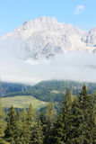 Austrian alps in summer. Austrian alps without snow, with the green vegetation of the summer Stock Images
