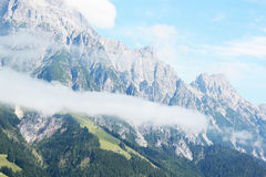 Austrian alps in summer. Austrian alps without snow, with the green vegetation of the summer Royalty Free Stock Photography