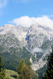 Austrian alps in summer. Austrian alps without snow, with the green vegetation of the summer Stock Image