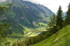 Austrian Alps in summer Royalty Free Stock Image