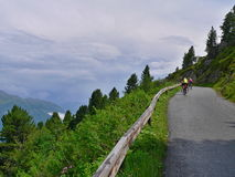 Austrian Alps-view of the cyclist Royalty Free Stock Images