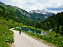Austrian Alps-down from Konigalm Stock Photography