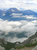 Austrian Alps. View of the snow-capped peaks of the Austrian Alps Stock Image