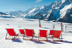 Austrian Alps in the winter stock photography